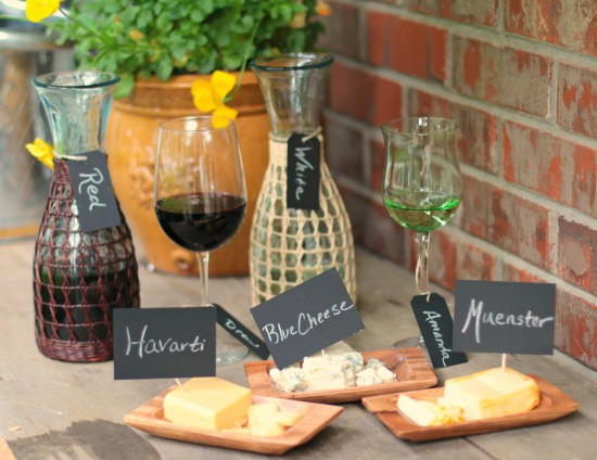 Fun Party Find – Chalk Stock for a Wine & Cheese Tasting