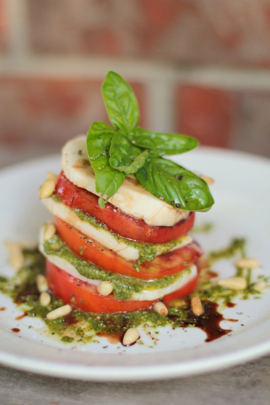 Caprese Stack with Pesto
