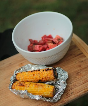 Grilled corn & Tomatoes