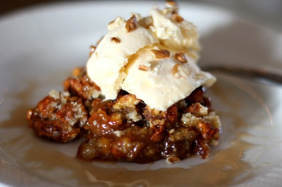 maple pecan cobbler