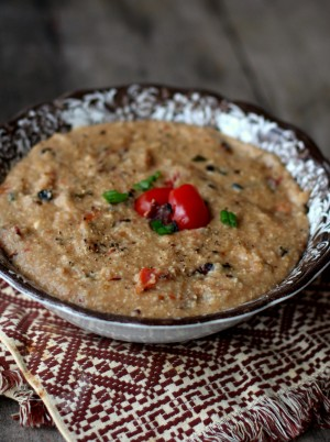 creamy bacon and tomato grits