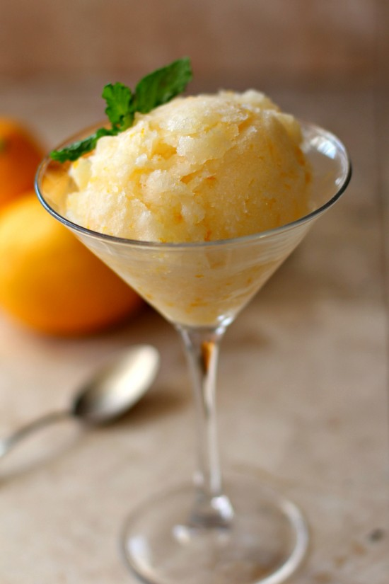 meyer lemon sorbet wo napkin