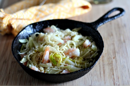 BMC – Shrimp Pasta with Leeks & Fennel