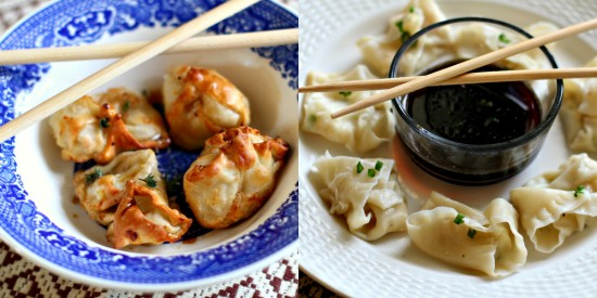 Shrimp & Cheese Filled Wontons with Sweet Soy Dipping Sauce – One Recipe Two Ways