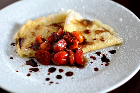 Sweet Balsamic Tomato Crepes