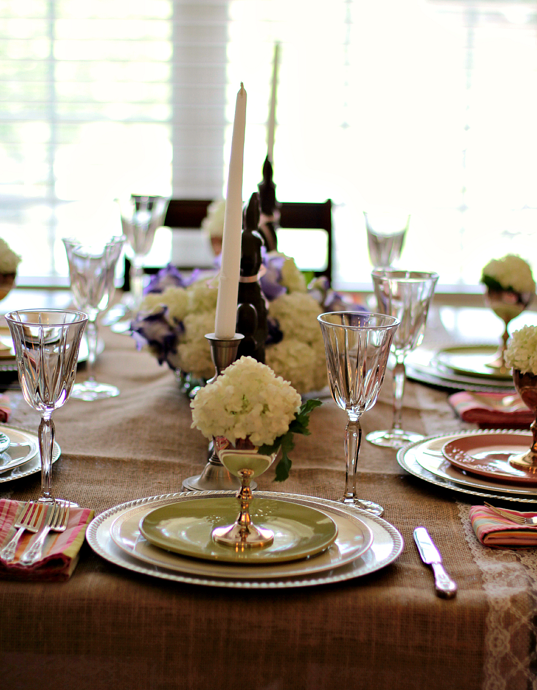 Easter dinner tablescape high heels to hot wheels - Easter table decorations meals special ...