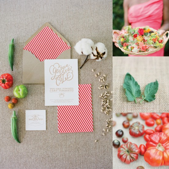 Favorite Things Friday – A Tomato Inspired Wedding from Southern Weddings