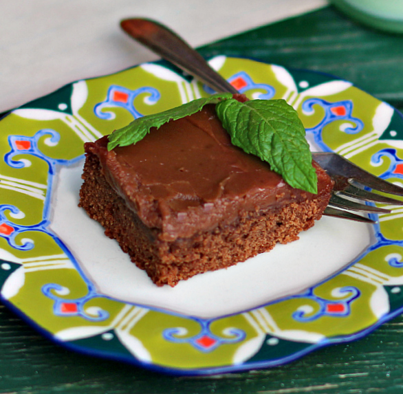 Easy Brownies with Chocolate Frosting