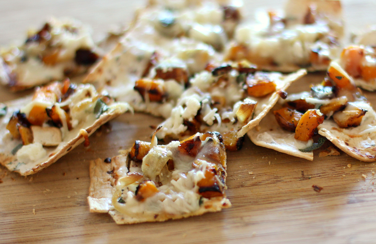 Grilled Butternut Squash and Caramelized Onion Flatbread