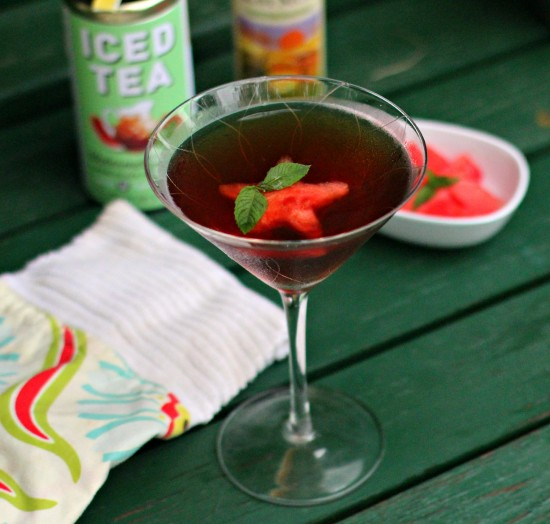 watermelon mint tea martini