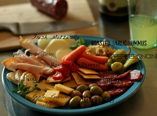 antipasti plate w text