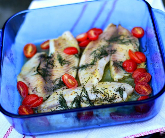 Baked Lemon Pepper & Dill Tilapia