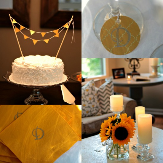 Clean & Classic, Yellow & Gray Bridal Shower: Sponsored Post