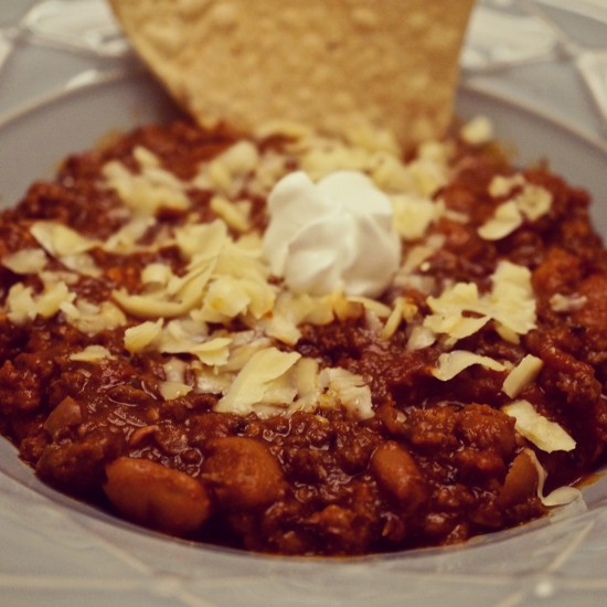 Three Chile Bison Chili