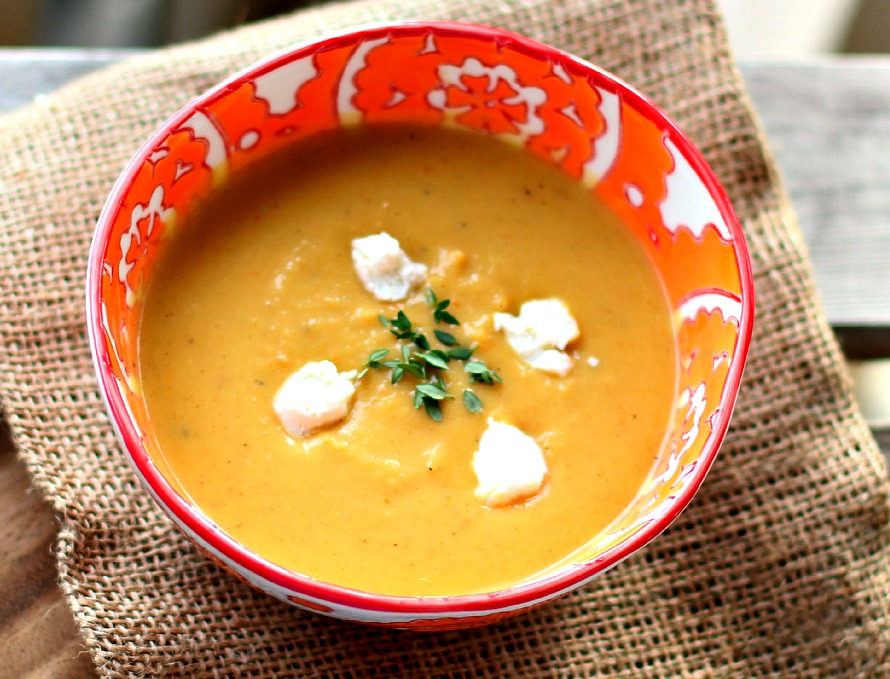 Roasted Acorn Squash And Leek Soup With Pepitas Recipes — Dishmaps