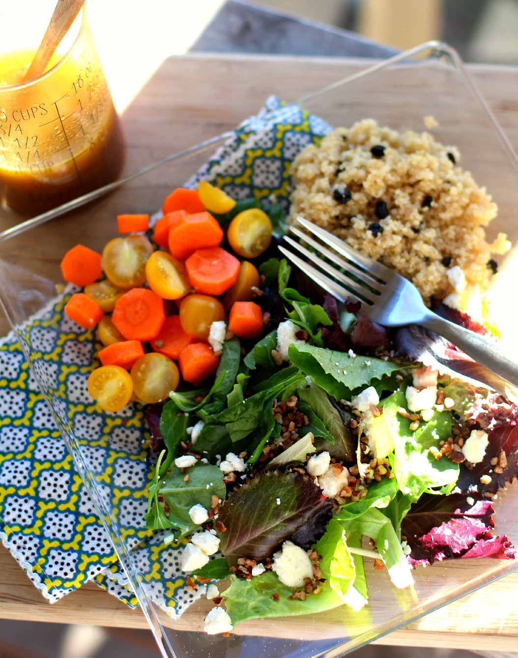Crunchy Salad with Quinoa Pilaf &  Citrus Vinaigrette
