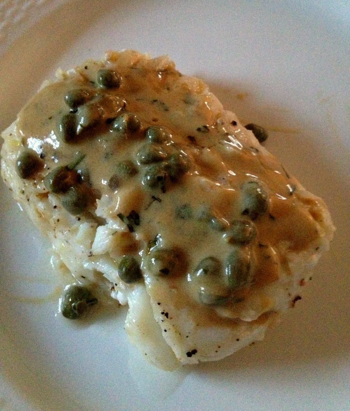 pacific cod with mustard caper sauce high heels to hot