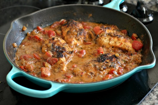 herbed chicken and tomatoes