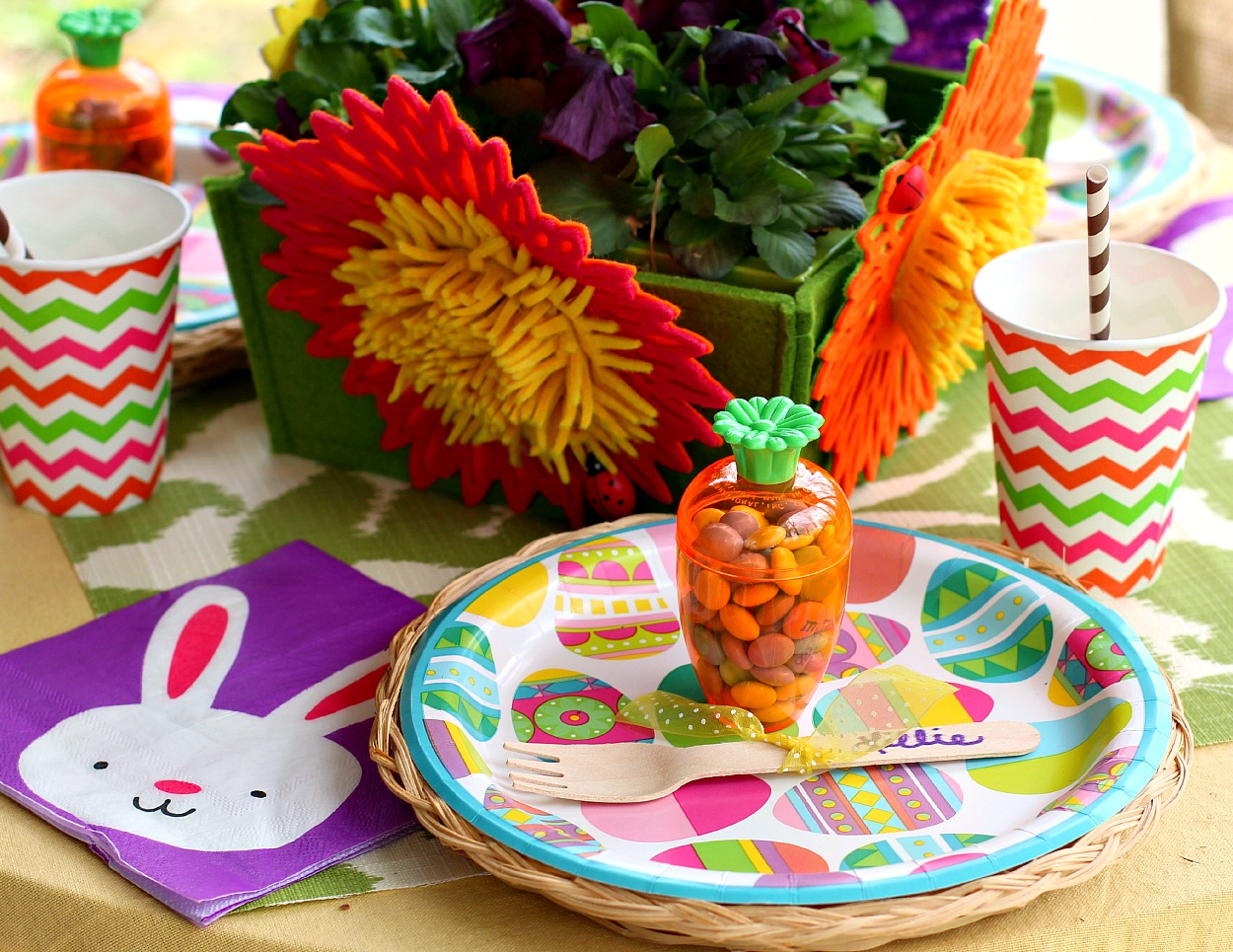 Pattern Power: An Easy Paper Product Easter Table for Kids | High ...