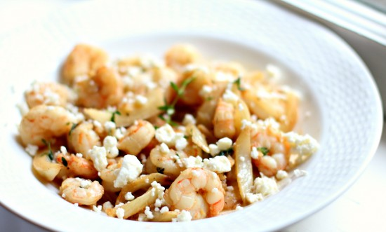 Sauteed Shrimp & Fennel with Lemon Thyme Sauce and Feta