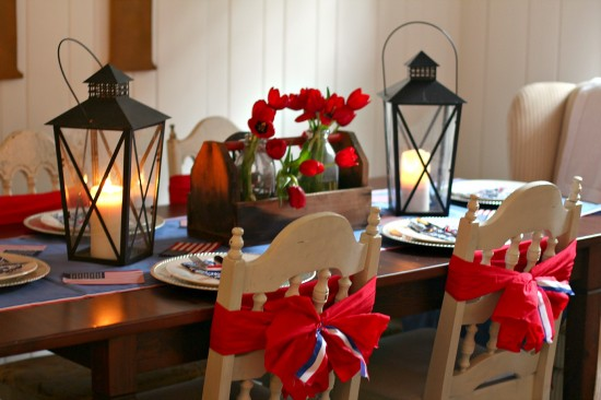 "Patriotic Tablescape: ""A Party for the USA"""
