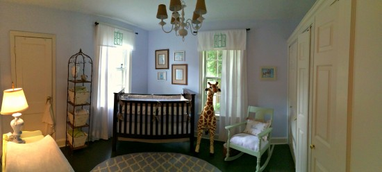 """Something Borrowed, Something Blue"" – A Sweet Nursery for Baby Baker"