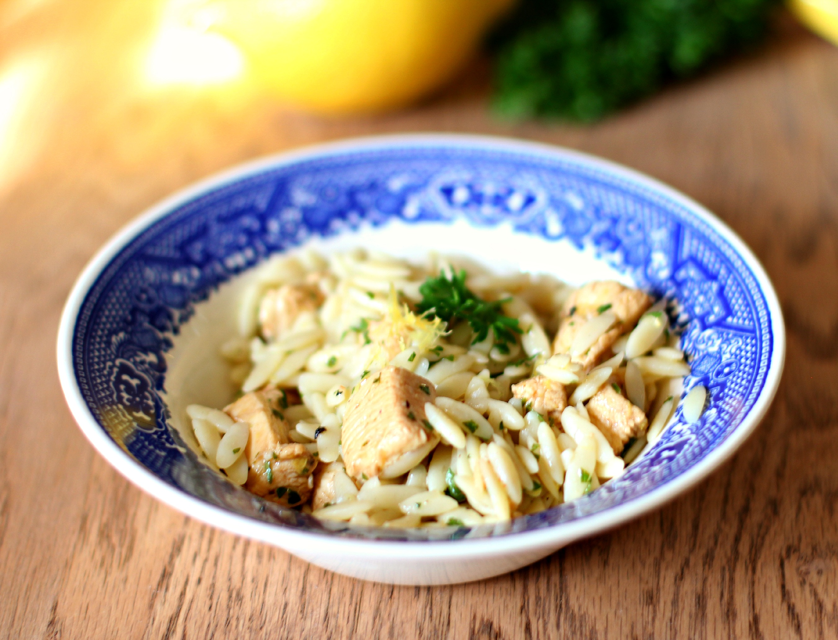 Lemon Orzo with Parsley