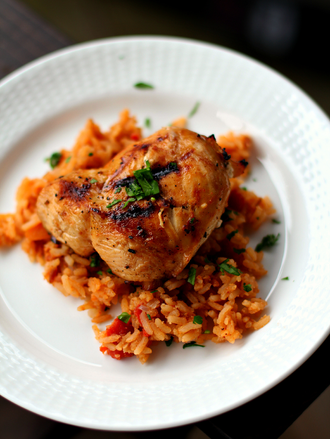 Tequila Lime Chicken with Easy Homemade Spanish Rice