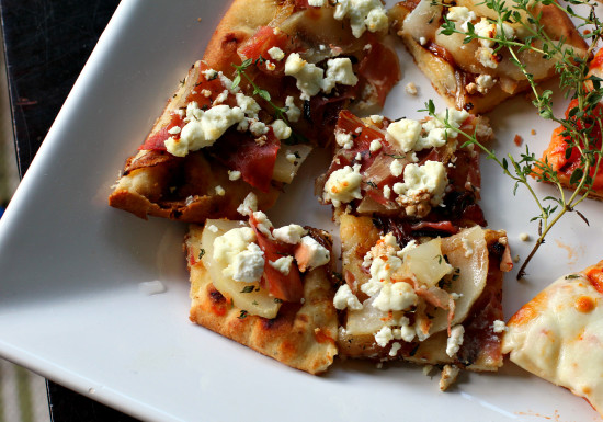 Pear, Goat Cheese & Prosciutto Flatbread