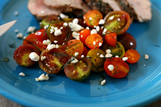 Grilled Tomatoes with Feta & Dill