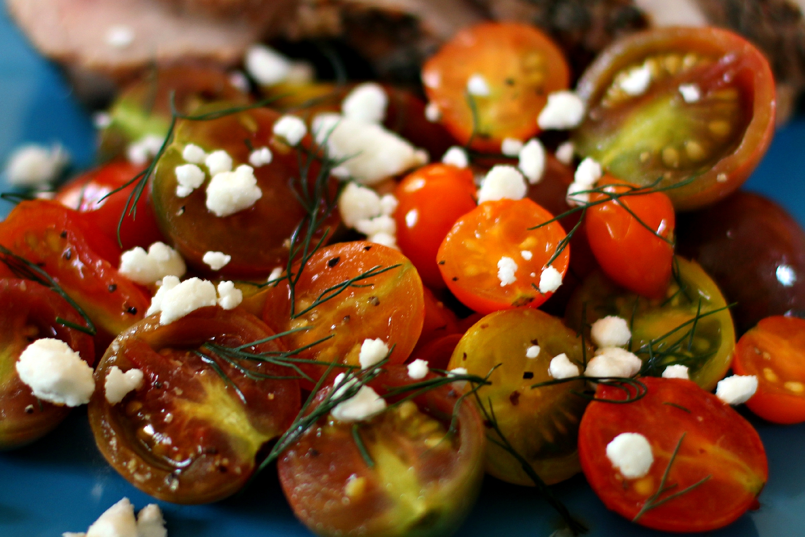 Grilled Tomatoes with Feta & Dill | High Heels To Hot Wheels