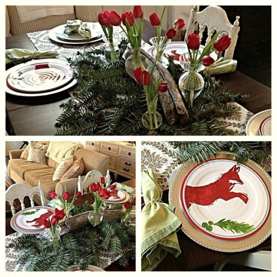 Fox and Tulips Christmas Table